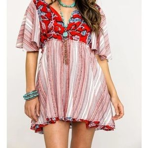 Free People Under the Sun Tunic Top - Red
